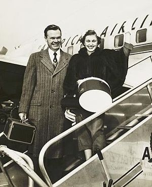 Ann Mara - Ann and Wellington Mara in 1954.