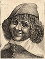 Wenceslas Hollar - Head of laughing man, after Bijlert (State 1).jpg