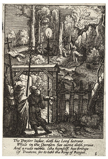 Wenceslas Hollar - Jesus on the Mount of Olives