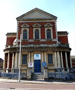 The Grade II listed West Croydon Baptist Church West Croydon Baptist Church - geograph.org.uk - 1205471.jpg