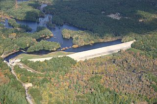 West Hill Dam dam in Worcester County, Massachusetts, United States of America