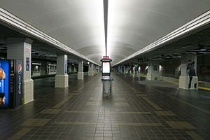Tower City station - The westbound Red Line platform