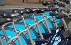 Westferry DLR station MMB 22 Barclays Cycle Hire.jpg