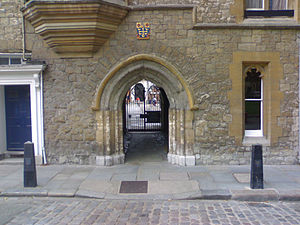 Westminster School - Liddell's arch, the main entrance to Little Dean's Yard
