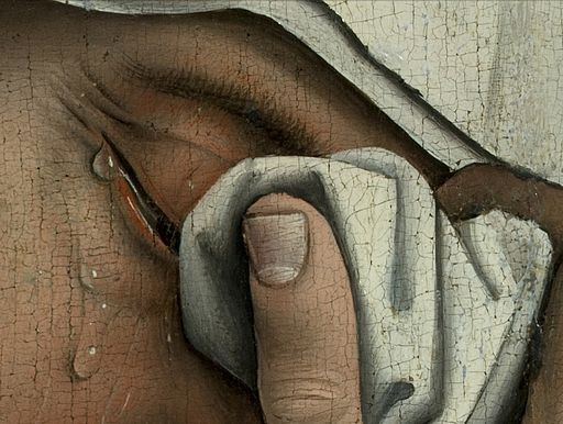 Weyden, Rogier van der - Descent from the Cross - Detail women (left)