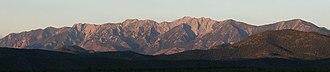 White Pine Range - The southern White Pine Range, looking west at sunrise.
