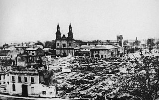 Luftwaffe air strikes on Wieluń on 1st September 1939, starting World War II