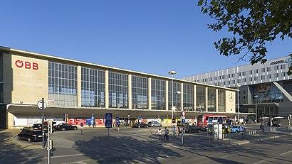 So kommt man zu Westbahnhof, Wien mit den Öffentlichen - Mehr zum Ort Hier