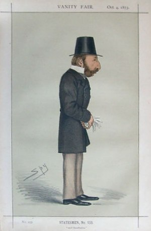 "William Campbell, 2nd Baron Stratheden and Campbell - ""and Stratheden"" Campbell as caricatured by Spy (Leslie Ward) in Vanity Fair, October 1873"