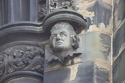 William Drummond of Hawthornden as appearing on the Scott Monument.JPG