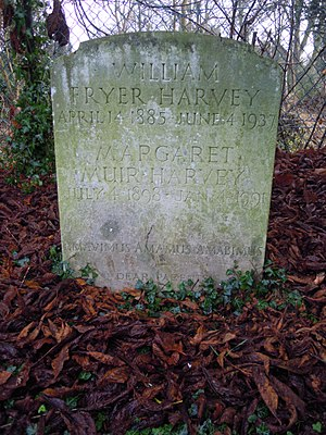 Church of St Mary, Letchworth - Grave of W. F. Harvey in the churchyard of St Mary's Church in Letchworth