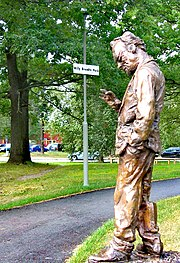 Statue of Willy Brandt in Willy Brandts Park, Stockholm 2007.