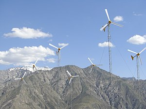 Renewable energy in Afghanistan - Wind farm in Panjshir Province