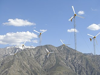 Energy in Afghanistan - Afghanistan's first wind farm in the Panjshir Province.