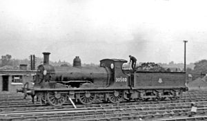 LSWR 395 class - shunting at Woking in 1955