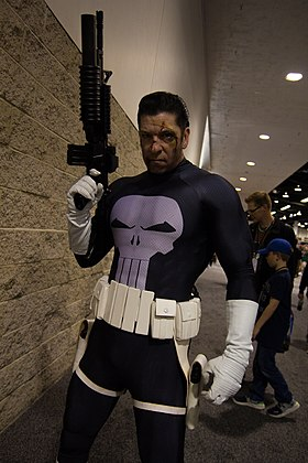 Cosplay du Punisher.