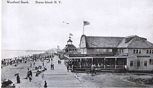 Midland Beach, Staten Island - Woodland Beach boardwalk and casino