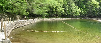 Worlds End State Park - The swimming area in the creek was built by the CCC.