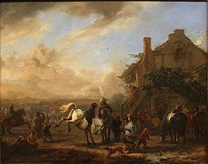 Horse Fair near an Inn