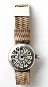 Early wrist watch by Waltham, worn by soldiers in World War