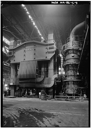 Wyman-Gordon - A 50,000-ton press in Grafton, Massachusetts, put into use by the company in 1955