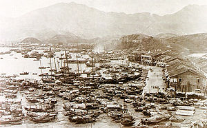 Yau Ma Tei - The shore of Yau Ma Tei in 1880