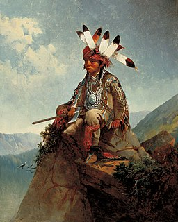 Young Chief by John Mix Stanley, 1868, oil on canvas