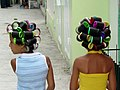 Young Girls with Hair Curlers - San Jose de Ocoa - Dominican Republic.jpg