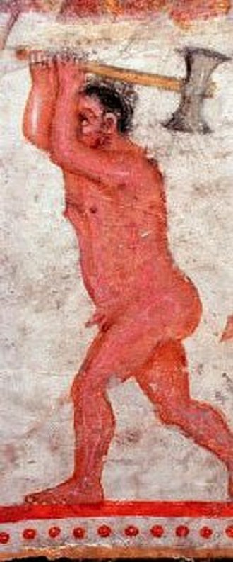 Zalmoxis - A tomb painting at the Aleksandrovska Grobnitsa (Bulgaria), which possibly depicts Zalmoxis.