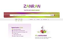Screenshot of Zanran homepage