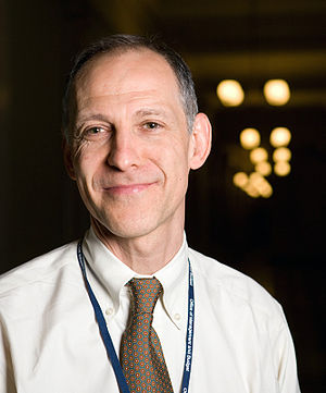 English: Zeke Emanuel outside his office in th...