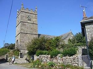 Zennor - Image: Zennor Church 1