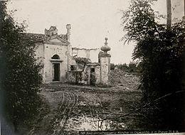 La chiesetta di San Martino nel 1918