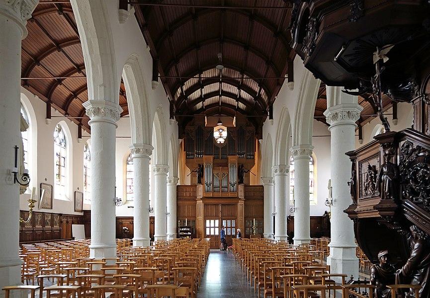Zomergem (province of East Flanders, Belgium): interior of St Martin's church