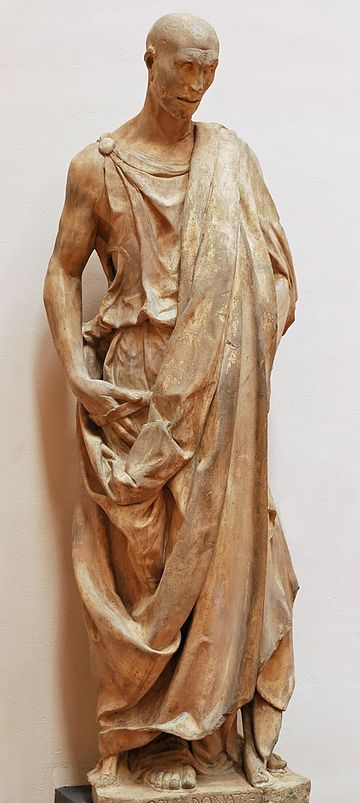 Statue of Habakkuk by Donatello, in the Museo dell'Opera del Duomo of Florence. Zuccone Donatello OPA Florence.jpg