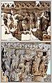 Zwei Motive von Säulenkapitelen des Kreuzgangs des Klosters Monreale auf Sizilien (24055907148).jpg