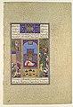 """The Wedding of Siyavush and Farangis"", Folio 185v from the Shahnama (Book of Kings) of Shah Tahmasp MET DP107144.jpg"