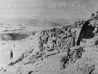 Second Transjordan attack on Shunet Nimrin and Es Salt - Imperial Camel Corps Brigade troops on Mussallabeh hill
