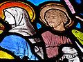 Église Saint-Pair de Saint-Pair-sur-Mer - Verrière de l'abside (détail).JPG