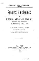 Virgilio: Églogas y Geórgicas