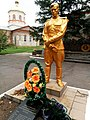 Братська могила радянських воїнів та пам'ятник воїнам - односельцям, с. Благовіщенка, біля церкви, Більмацький р-н, Запорізька обл.jpg