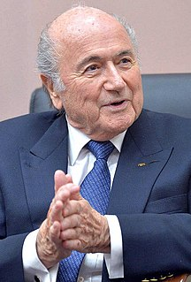 Sepp Blatter 8th President of the International Federation of Association Football
