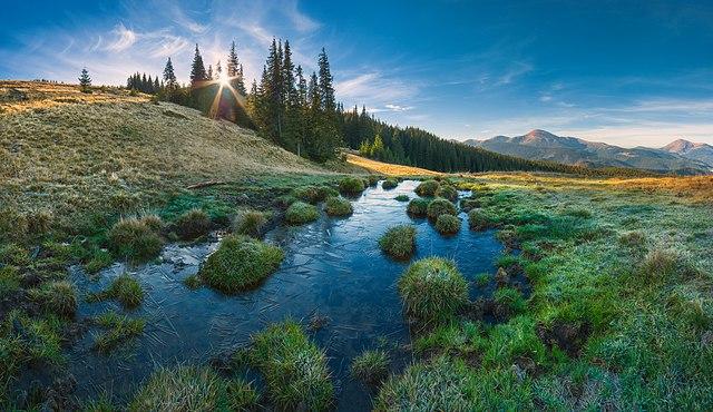 1 місце. Карпатський морозний ранок. Карпатський біосферний заповідник. © Віталій Башкатов