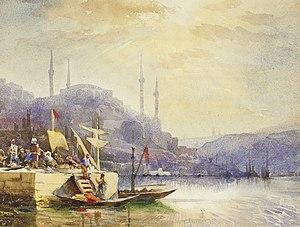 Константин Егорович Маковский - Разгрузка лодки на Босфоре.jpg