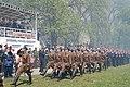 Марш военнослужащих в форме военных лет, на трибуне ветераны 8 мая 2015 года, 58 армия.JPG