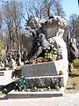 Франко Іван ( (1856-1916) -письменник, перекладач, філософ, громадський діяч,автор нагробку -скульптор С.Литвиненко, поле 4.JPG
