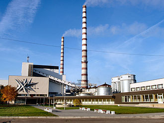 Oil shale industry - Oil-shale-fired Eesti Power Plant in Narva, Estonia.