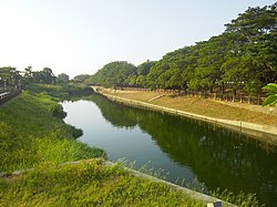 Waterway of the ancient harbor in Madou