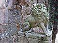 030 Castell de Santa Florentina (Canet de Mar), lleó a banda i banda de l'entrada.JPG