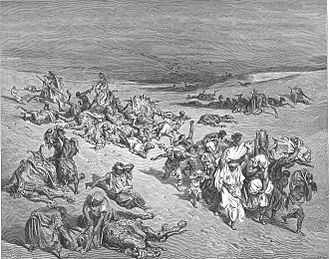 "Murrain - Gustave Doré's ""The Murrain of Beasts"" (or ""The Fifth Plague: Livestock Disease""), one of his many illustrations for  ''La Grande Bible de Tours'' (1866)."